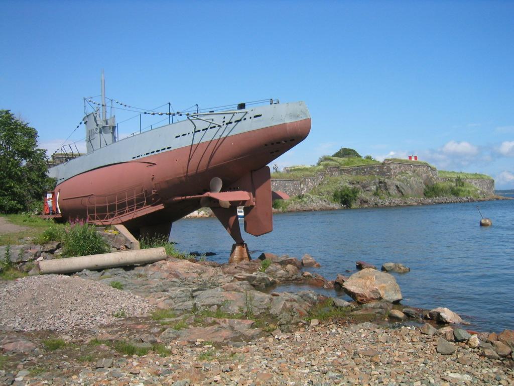 Sukellusvene Vesikko Suomenlinnassa.